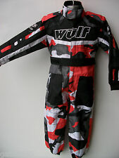 NEW AGE 11-12 RED CAMO WULFSPORT KIDS OFF ROAD OUTDOOR PLAY SUIT QUAD OVERALLS