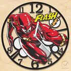 Handcraft Vinyl Record Hanging Wall Clock The Flash Home Decor Super Hero Patch