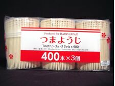 1200 Japanese Wooden Wood Toothpicks Fancy Carved Ends Oral Dental Care-Barware