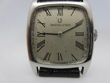 Vintage men's Universal Geneve watch stainless steel