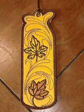 Embroidered Bookmark Felt - Fall - Gold & Yellow Leaves