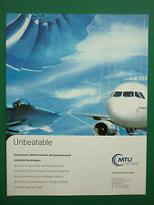 12/2000 PUB MTU AERO ENGINES MUNCHEN AIRBUS TYPHOON MAINTENANCE GERMAN ADVERT