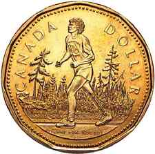 2005 $1 Terry Fox Loonie Canadian Dollar - 25th Anniversary Marathon of Hope