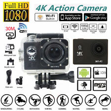 2.0'' 1080P Full HD 4K Wifi SJ8000R Sports Action Camera Waterproof DVR UK Plug