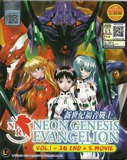 Anime Neon Genesis Evangelion Complete ENGLISH Series + 5 Movies Box Set - NEW