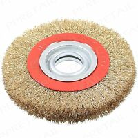 """6""""/150mm Fine Wire Wheel +ADAPTOR RINGS+ For Bench Grinder Deburring/Cleaning"""