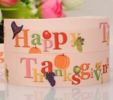 "BTY 7/8"" Thanksgiving Holiday Grosgrain Ribbon Hair Bow Lisa"