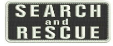Search and Rescue embroidery 6 patches 2x5 with hook on back white
