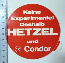 ADESIVI/Sticker: non esperimenti pertanto Hetzel e Condor (02031683)