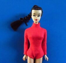 VINTAGE BARBIE 942 ICE BREAKER (1962-1964) RED KNIT BODY SUIT (NO DOLL) PERFECT!