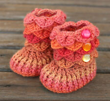 Crochet Baby Booties That Stay On / Baby Slippers / Baby Booties / Rainbow wool