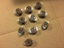 Lot of 10 NOS Cinch 7 pin Brown Vacuum Tube Sockets New Old Stock