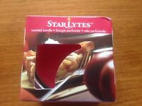 Star Lytes Warm Apple Pie Scented Candle & Glass Holder - New & Boxed
