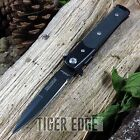 NEW! Tac-Force All Black Small G10 Handle Spring Assisted Stiletto Folding Knife