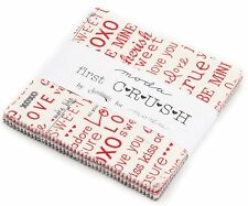 "First Crush Moda Charm Pack 42 100% Cotton 5"" Precut Fabric Quilt Squares"
