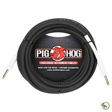 "Strukture Pig Hog PH186 1/4"" Inch 8mm Rubber Instrument Guitar Bass Cable 18.5ft"