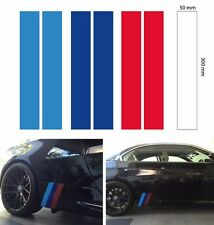2set M skirt stripe spoiler splitter BMW decal sticker vinyl 3 color 300x50 mm