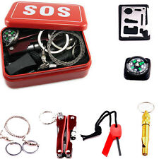 Portable Emergency Outdoor Equipment SOS For Camping Hiking Survival Tool Box