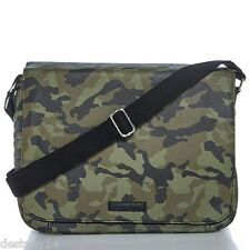 William Rast Faux Leather Unisex Messenger Bag Camo NWT
