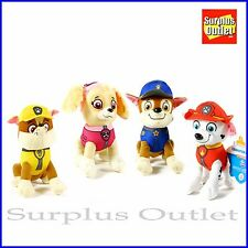 "Paw Patrol 7"" plush toy stuffed doll 4 pc set"
