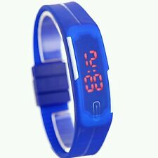 Sport Blue Watch Unisex  Kid Electronic Led Digital Jelly wristwatch