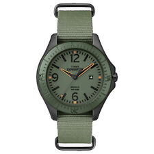 Timex T49932 Expedition Camper Aluminum Ring & Green Nylon Slip Thru Strap Watch