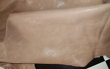 Brown ish Gray Tan Leather Finished Hide 7.1 Square Feet Skin Pelt 7 sqf 6D
