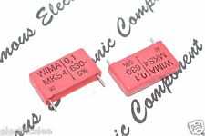 4pcs - WIMA MKS4 0.1uF (0,1µF 100nF) 630V 5% pitch:22.5mm Polyester Capacitor