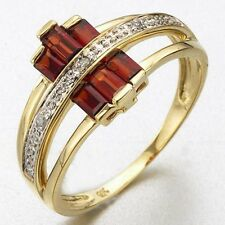 Popular Jewellry Size 6 Luxury Garnet 10KT Gold Filled Womens Anniversary Ring