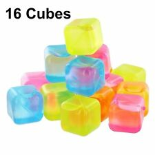 Reusable Plastic Ice Cubes, Pack of 16    Reuseable                    SQUARE