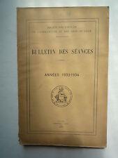 1933 BULLETIN DE SEANCES STE DES SCIENCES DE L'AGRICULTURE ET DES ARTS DE LILLE