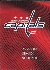 2007-08 NHL HOCKEY SCHEDULE - WASHINGTON CAPITALS