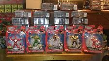 "Power Rangers Super Megaforce Mighty 4"" Set Green White Red New"