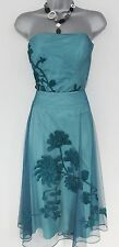 Coast Floral Embroidered Tapework Evening Occasion Basque Top & Skirt Dress 12