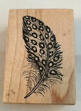 PSX  EUC RUBBER STAMP D-1515 Bird Feather GUINEA FOWL BIRD FEATHER PEACOCK