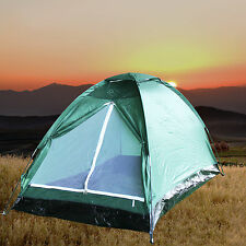 2 Person Camping Hiking Backpacking Lightweight Tent  Beach Shelter Army Green