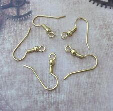 Gold Plated Fishhook Earwires Earrings components Ear hooks Pack of 20