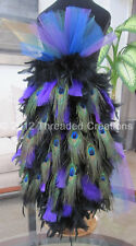Peacock Bustle - Feather Bustle - Peacock Costume or Carnival Costume