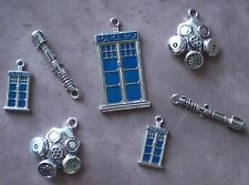 Doctor Who Tardis Sonic Screwdriver Gas Mask 11th Dr Charm Pendants Lot BBC