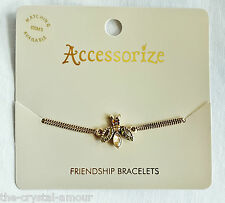 MONSOON, ACCESSORIZE, CRYSTAL BEE FRIENDSHIP BRACELET. Ref B101