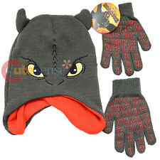 How To Train Your Dragon 2 Dragon Face Beanie Hat  Gloves Set Kintted Cap