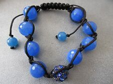 Blue Shamballa Faceted 12mm Bracelet 1pc