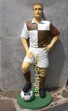 Fußballer Skulptur Werbefigur Fußballspieler Figur Statue Lebensgroß Dekoration