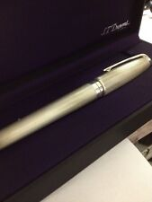 St DuPont Sterling Silver Fountain Pen With Box