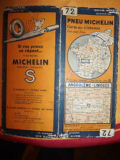 carte michelin 72 angouleme  limoges 1933
