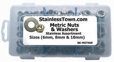 StainlessTown Stainless Metric Assort Kit Hex Nuts & Washers 6mm, 8mm & 10mm