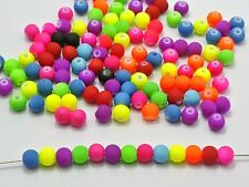"500 Mixed Matte Neon Beads Acrylic Round Beads 6mm(0.24"")"