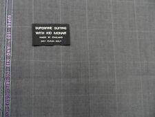 50% MOHAIR 50%  WOOL WORSTED SUITING FABRIC( LENGTH 3.50  MT)