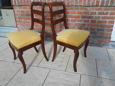 Paire chaises acajou Restauration.Dossiers à barrettes. XIXème