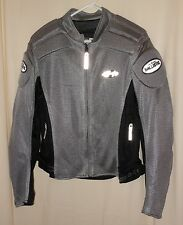 JOE ROCKET MOTORCYCLE JACKET NYLON MESH SPORT BIKE PADDED GRAY/BLACK SIZE SMALL